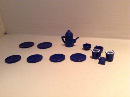 Sylvanian Families Blue Crockery