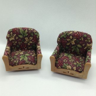 A pair of Sylvanian Families Arm Chairs